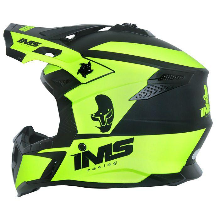 Capacete IMS Sprint Neon - Preto Fosco