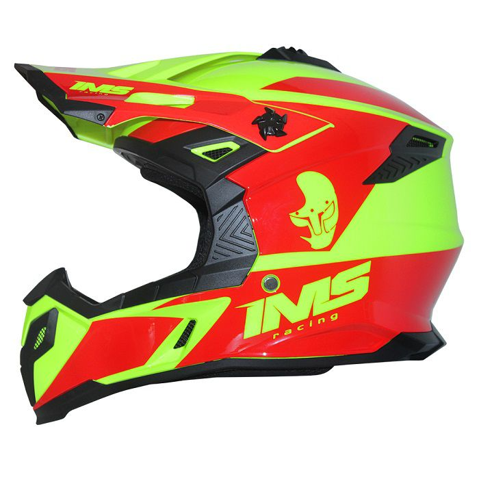 Capacete IMS Sprint Neon - Vermelho