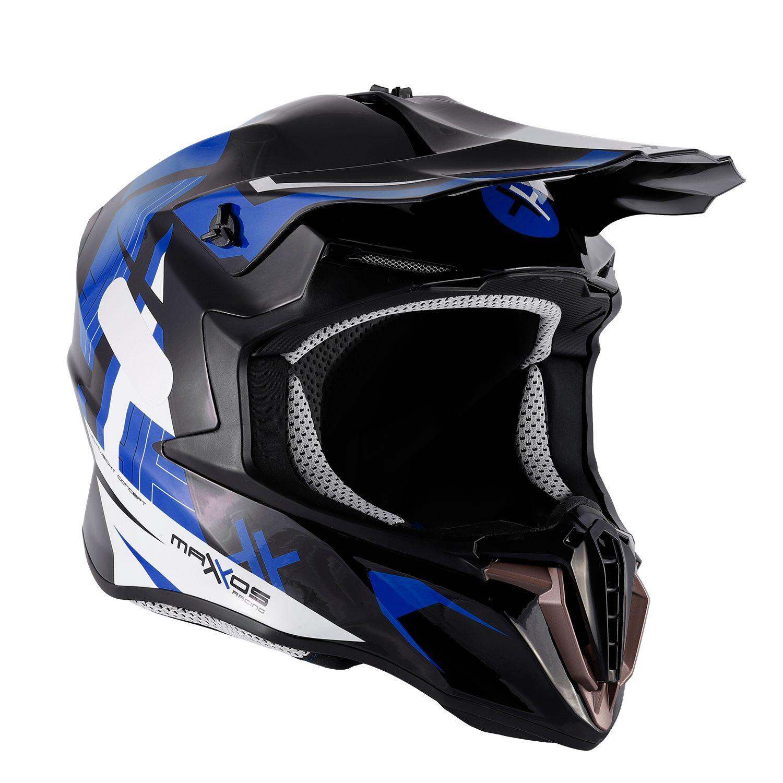 Capacete Mattos Racing Combat MMXIV - Azul