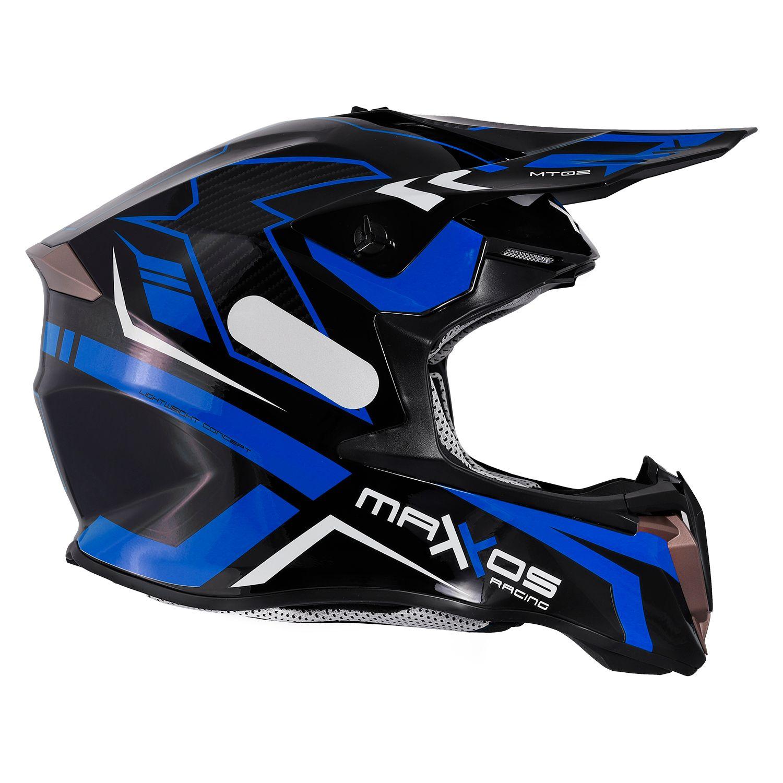 Capacete Mattos Racing Combat MTR02 - Azul