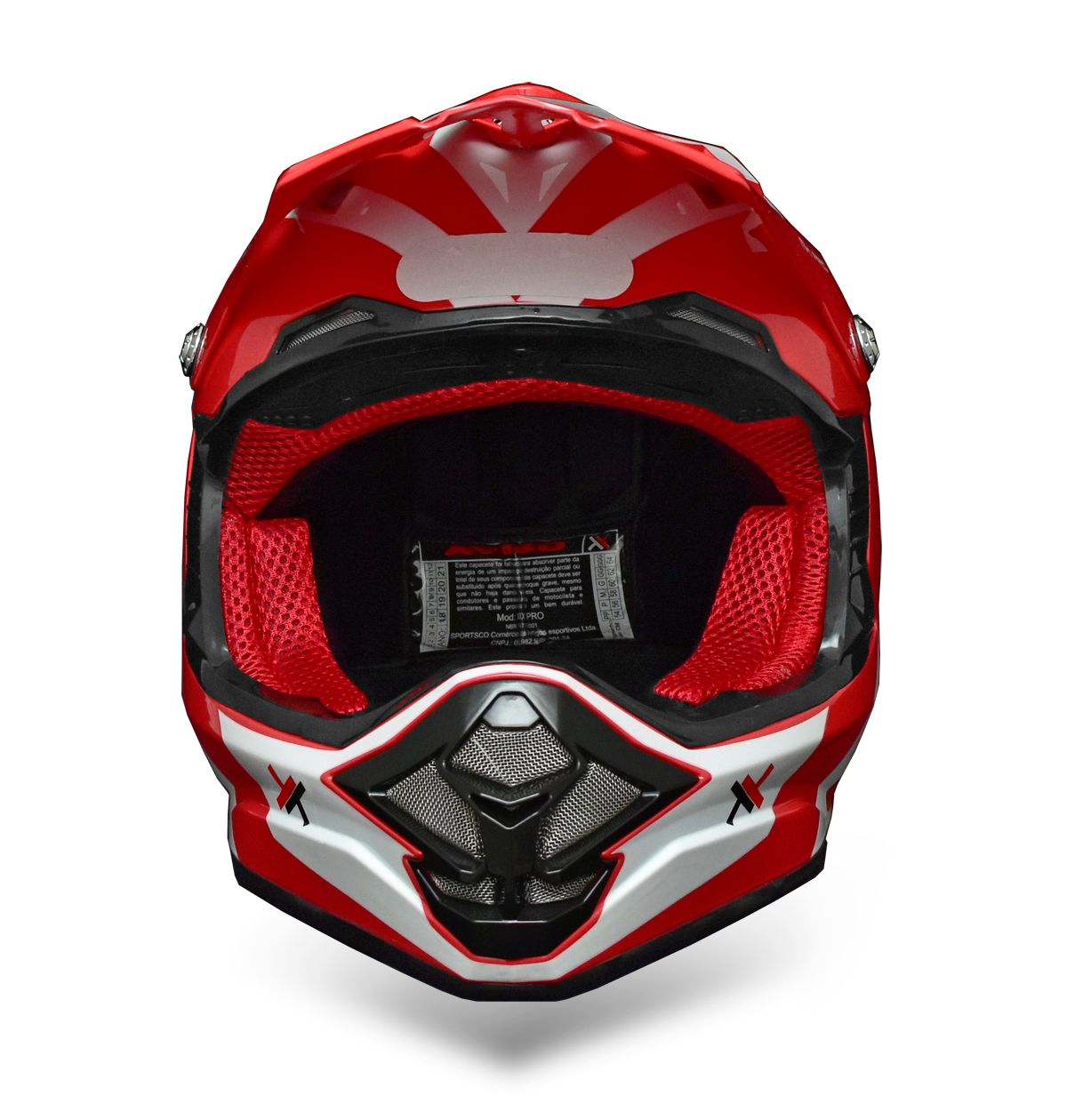 Capacete Mattos Racing MX Pro - Vermelho/Branco