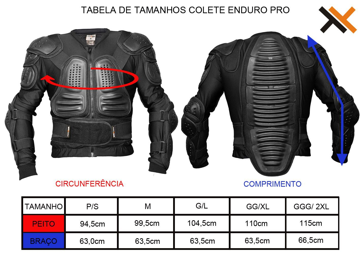 Colete Integral Mattos Racing Enduro Pro