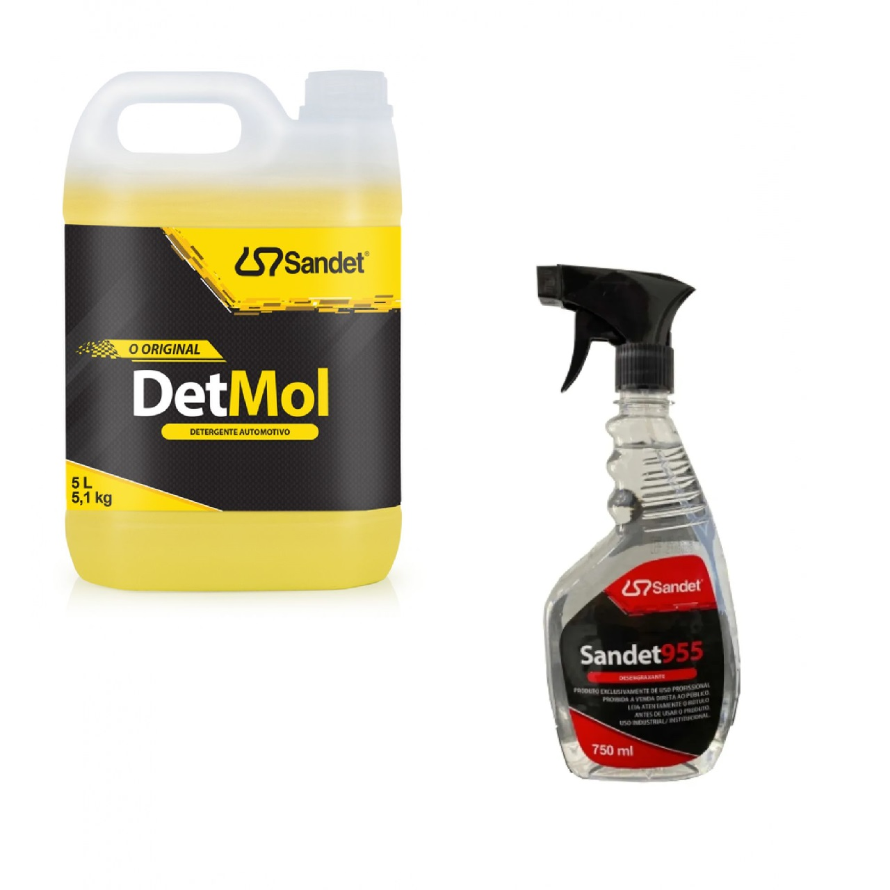 Combo Lava Moto Shampoo Detmol 5L +  Desengraxante Sandet