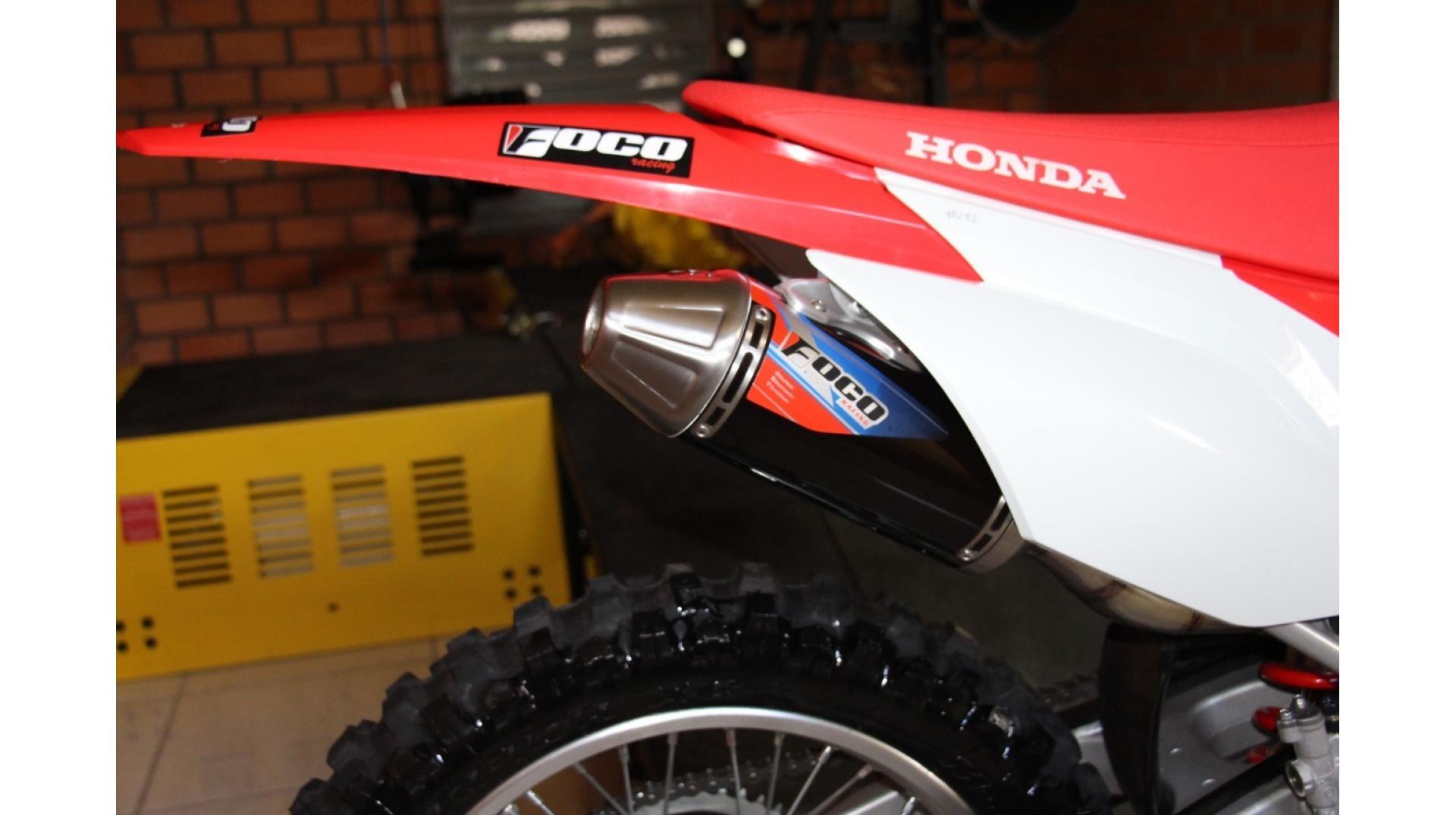 Escapamento Foco Racing CRF250F Strong - Curva + Ponteira