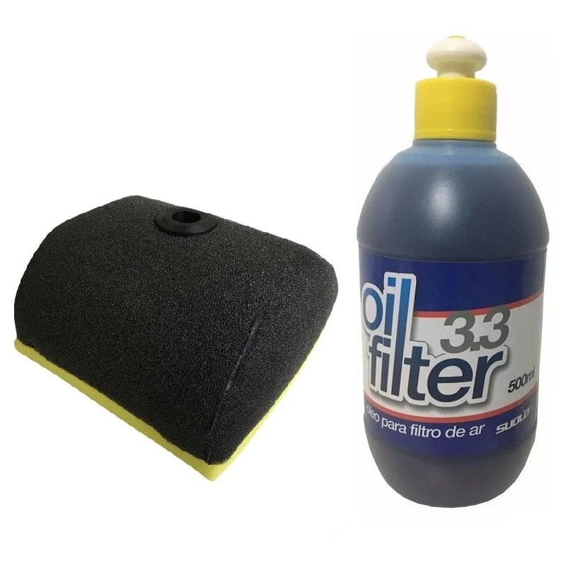 Filtro de Ar CRF 230 / CRF 150 Okta + Óleo de Filtro de Ar Suolo 500ml