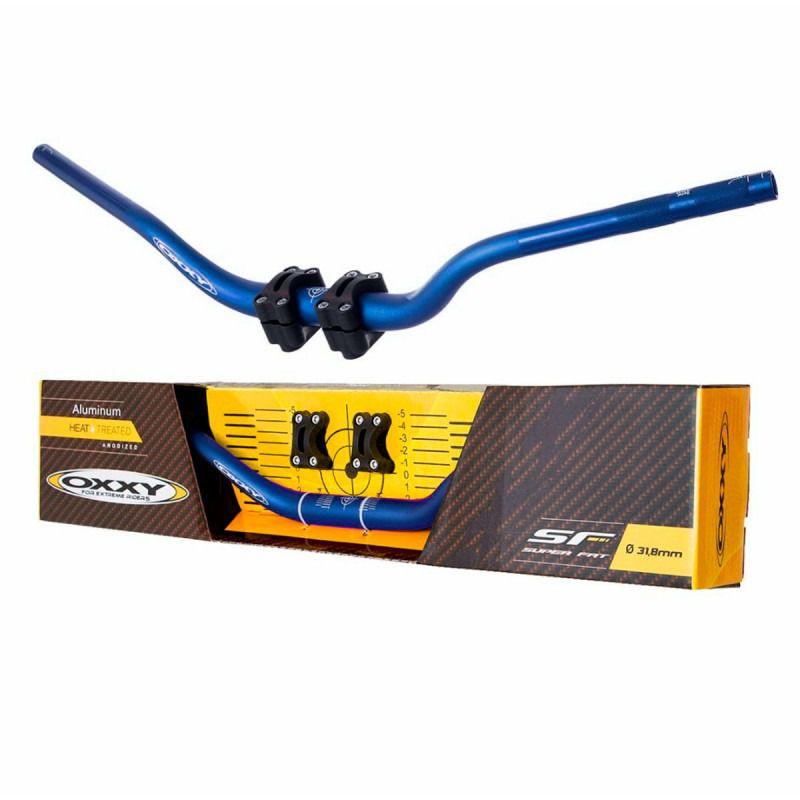 Guidão + Adaptador Oxxy Super Fat Bar - Azul Alto