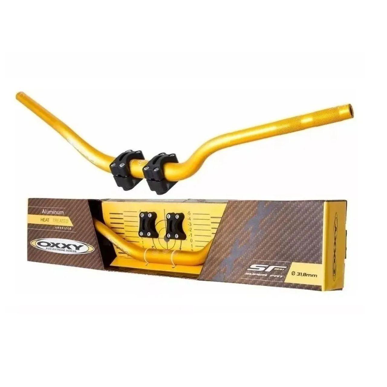 Guidão + Adaptador Oxxy Super Fat Bar - Dourado Baixo