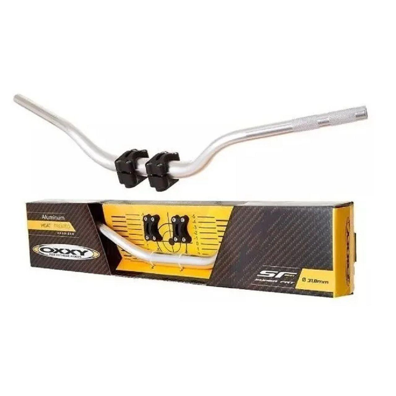 Guidão + Adaptador Oxxy Super Fat Bar - Prata Baixo