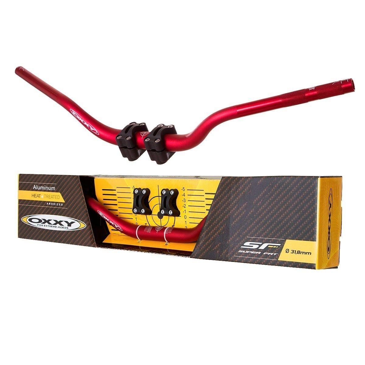 Guidão + Adaptador Oxxy Super Fat Bar - Vermelho Alto