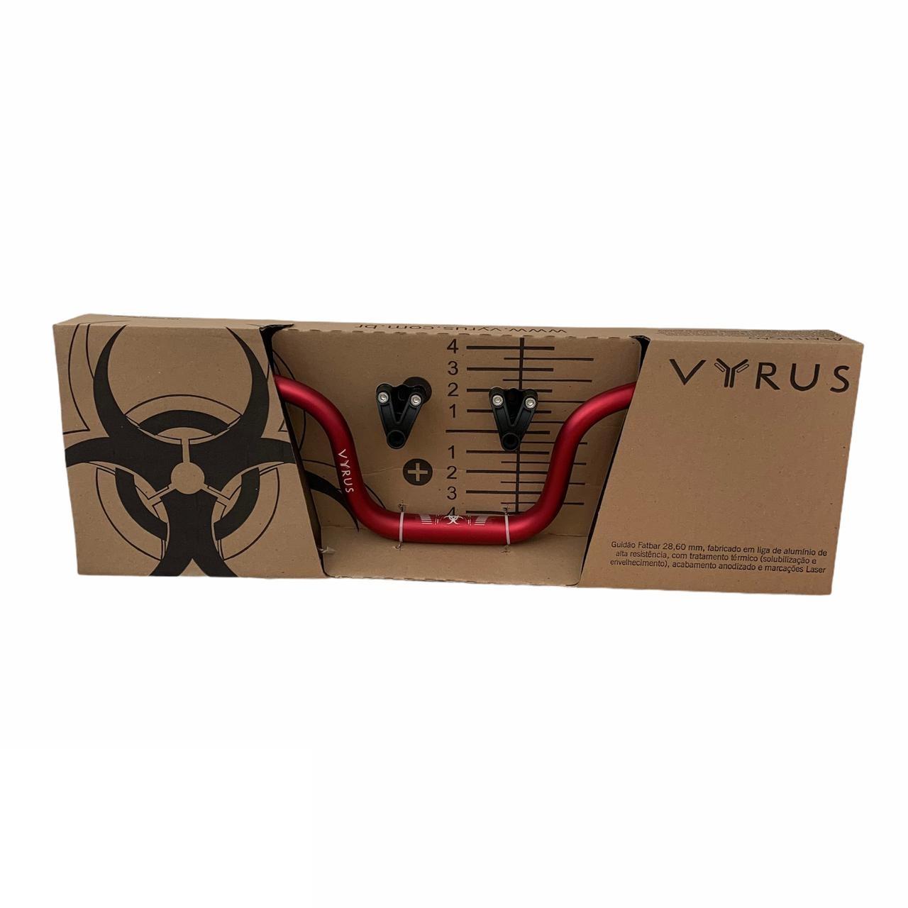 Guidão + Adaptador Vyrus City Fat Bar 28mm