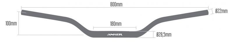Guidão Anker 28,5mm