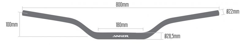 Guidão Anker 31,5mm + Adaptador e Espuma