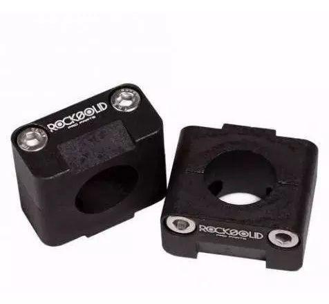 Guidão De Alumínio Super Fatbar Rocksolid  31,75mm Baixo C/ Adaptador