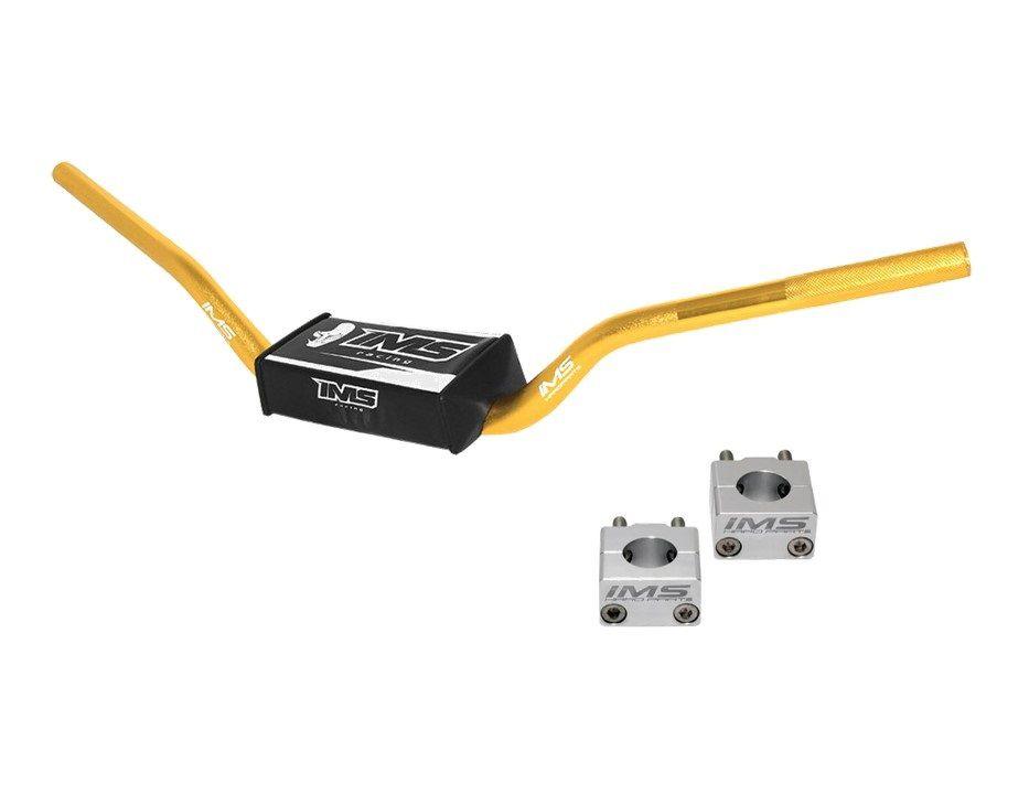 Guidão IMS Fatbar Light 28mm Alto + Adaptador - Dourado
