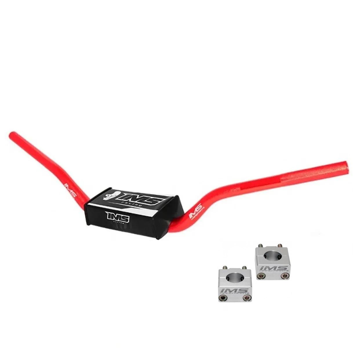 Guidão IMS Fatbar Light 28mm Alto + Adaptador - Vermelho