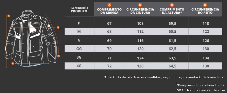 Jaqueta Motociclista X11 ITravel 2 Longa Impermeavel