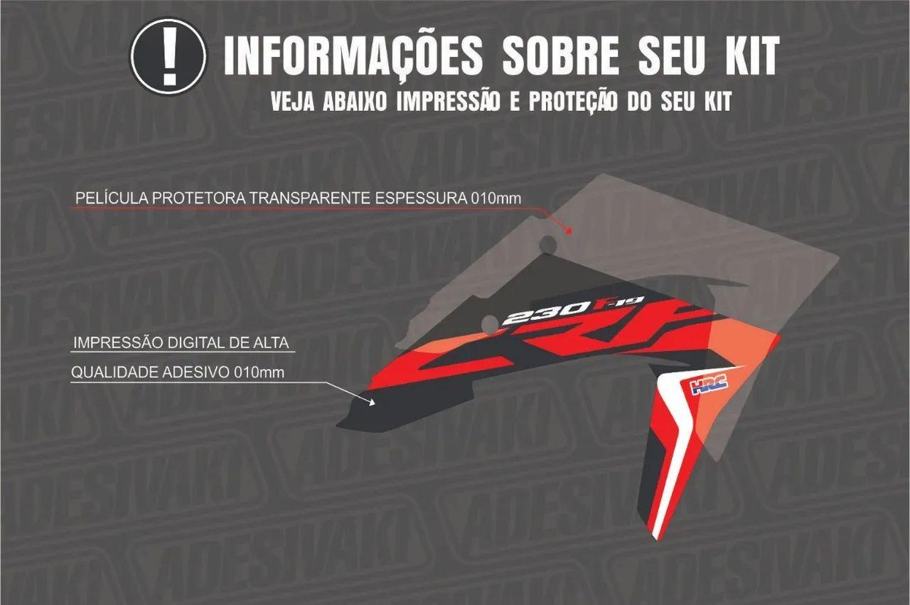 Kit Adesivos Gráficos CRF 230 F-19 Biker Elite 2019