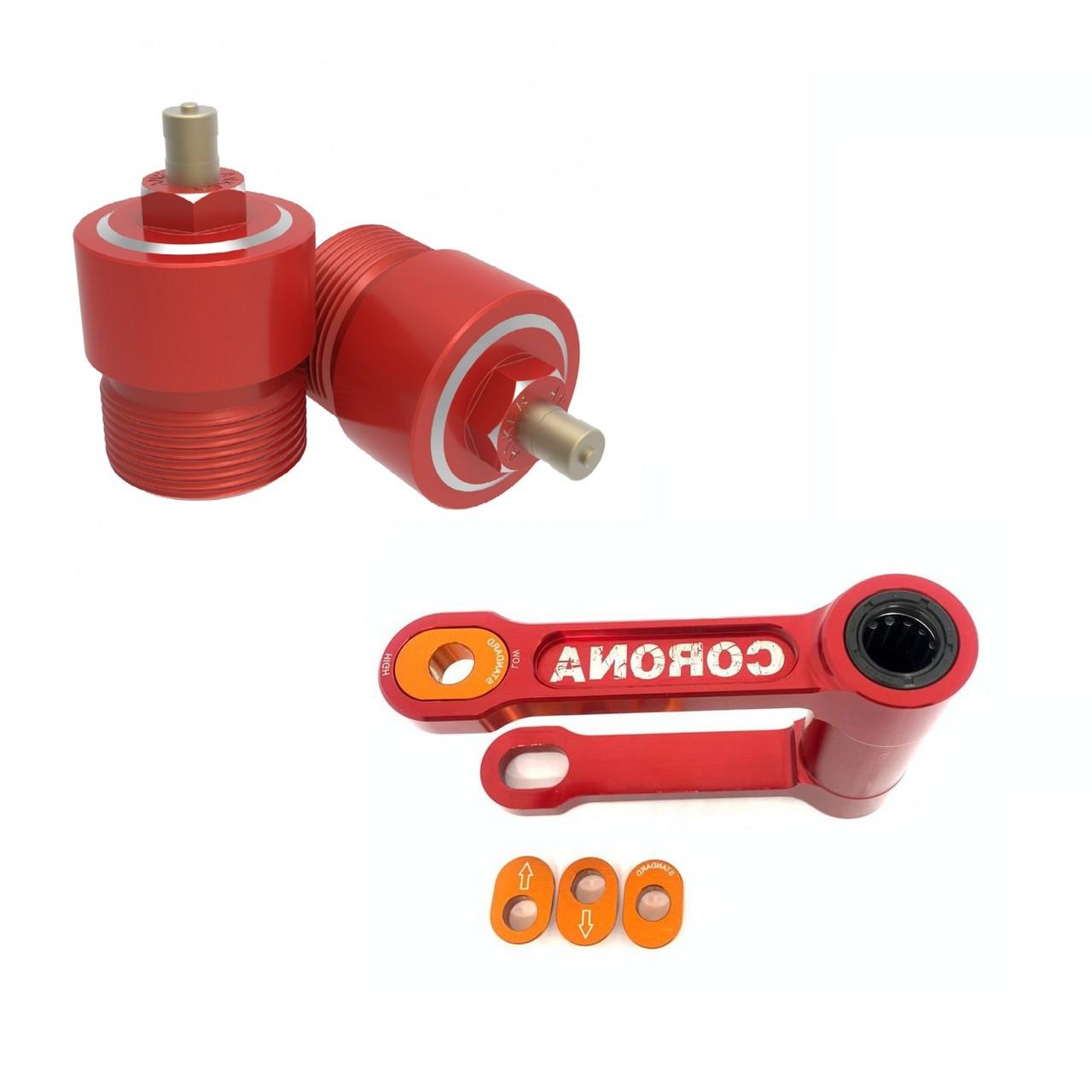 Kit Alongador de Suspensão Dianteiro Anker + Link Traseiro Corona