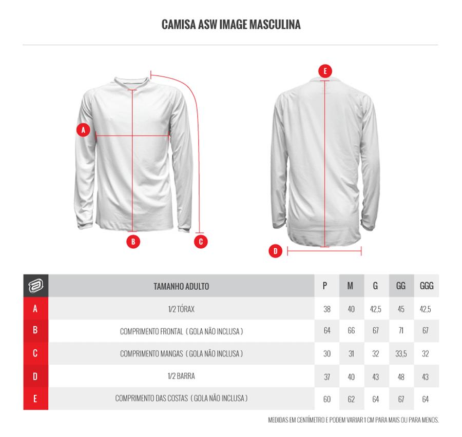 Kit Calça + Camisa ASW Image Dart Preto/Vermelho