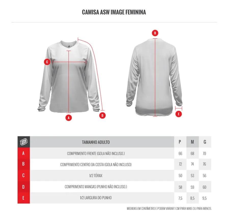 Kit Calça + Camisa ASW Image Poly Feminino Preto