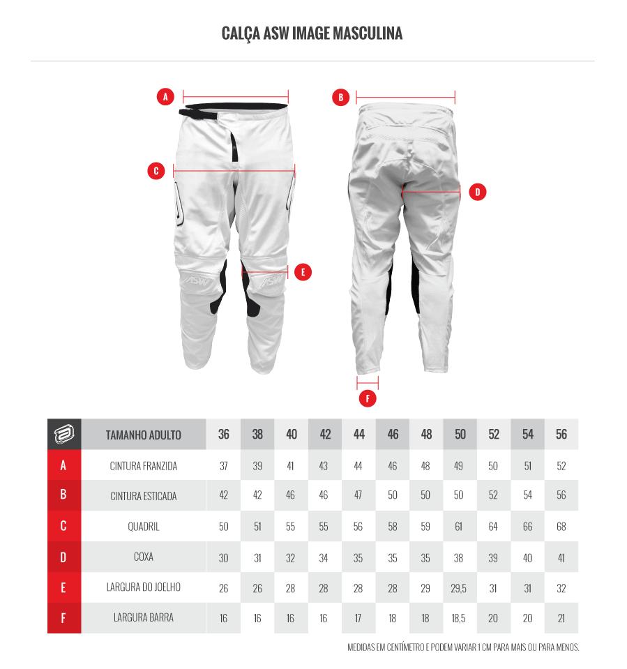 Kit Calça + Camisa ASW Image Stages Chumbo/Laranja Fluor