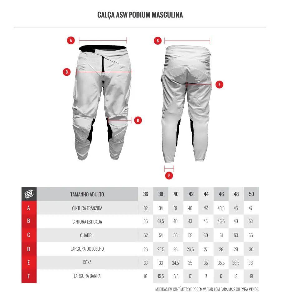 Kit Calça + Camisa ASW Podium Race Era Laranja