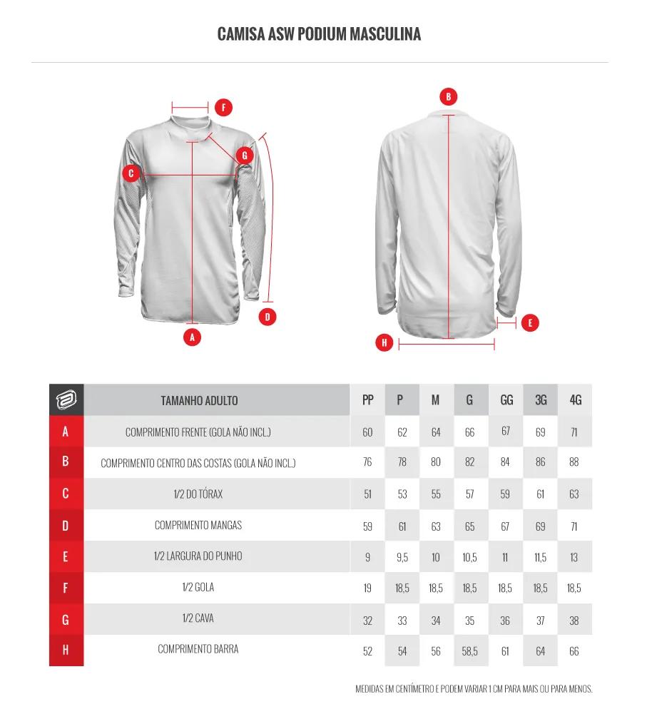 Kit Calça + Camisa ASW Podium Race Era Militar