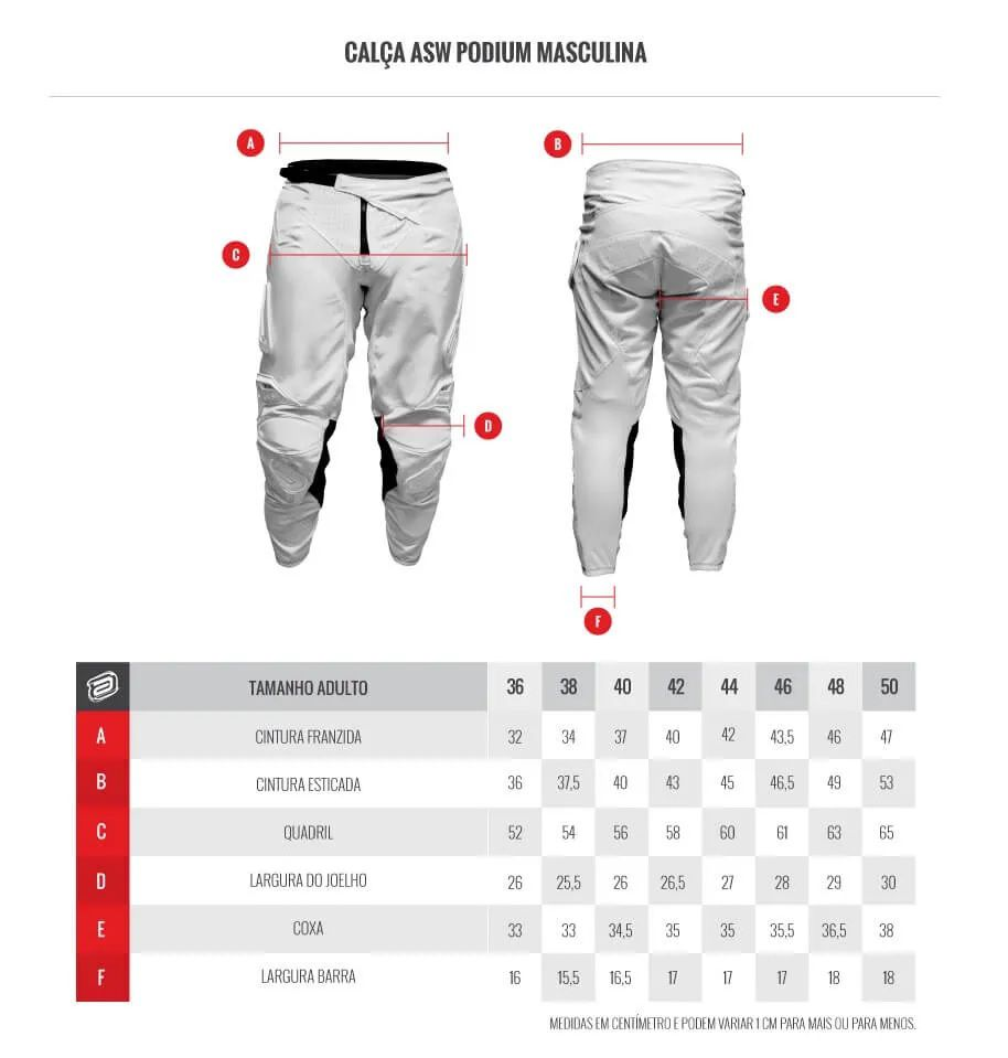 Kit Calça + Camisa ASW Podium Vertice Laranja