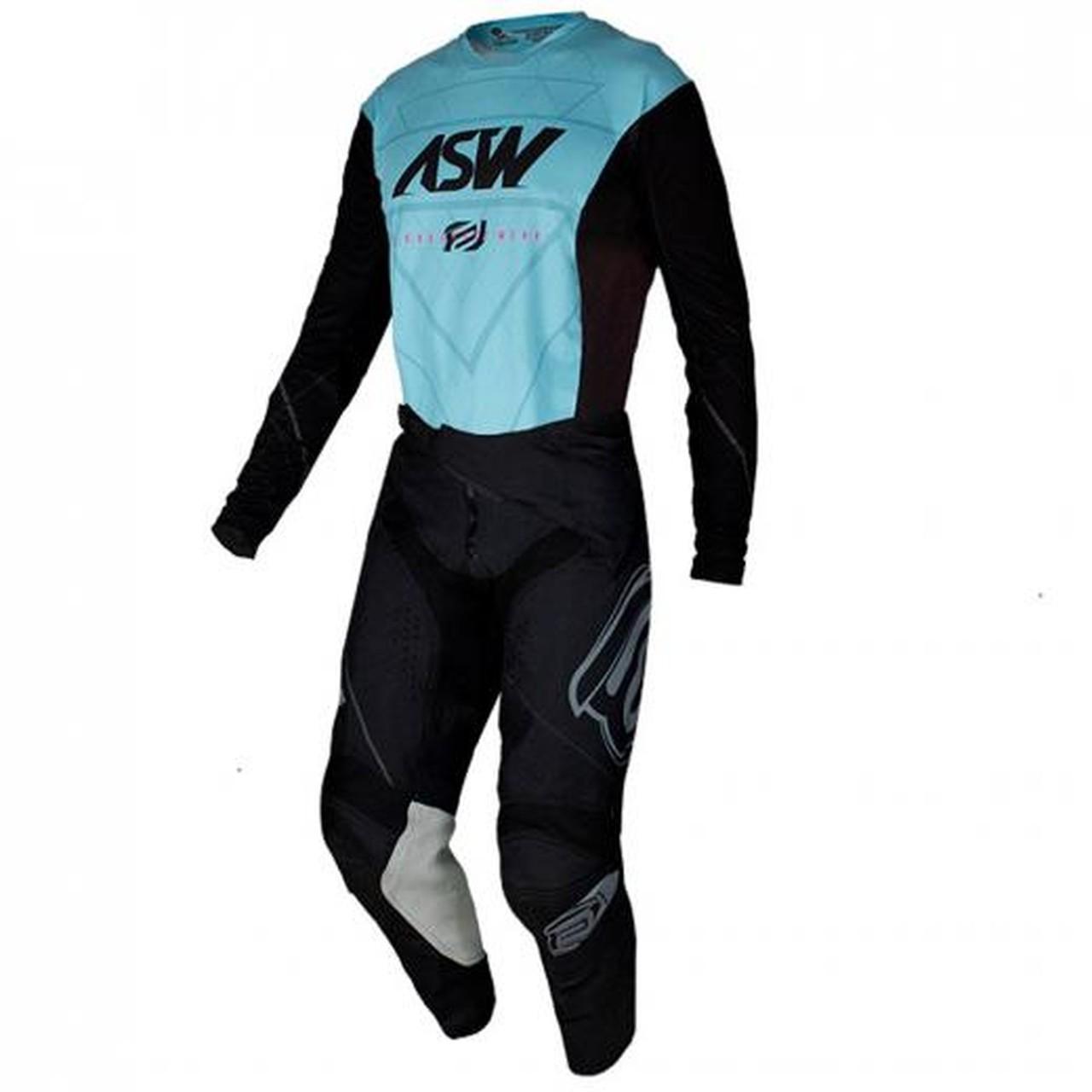 Kit Calça + Camisa ASW Podium Vertice Preto/Azul