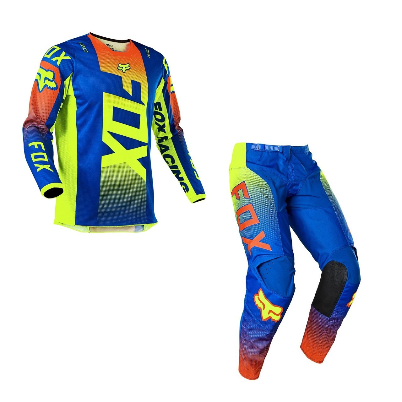 Kit Calça + Camisa FOX 180 Oktiv Blue