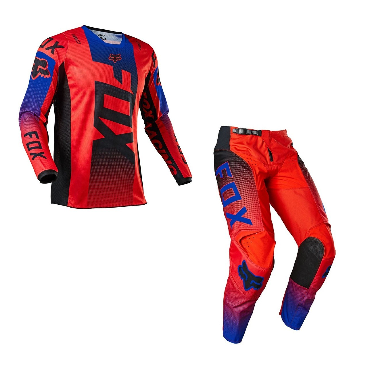 Kit Calça + Camisa FOX 180 Oktiv Flo Red