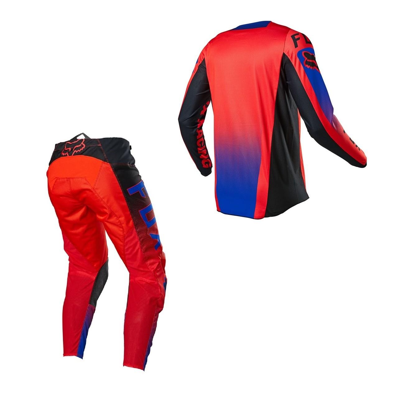Kit Calça + Camisa FOX 180 Oktiv Flo Red