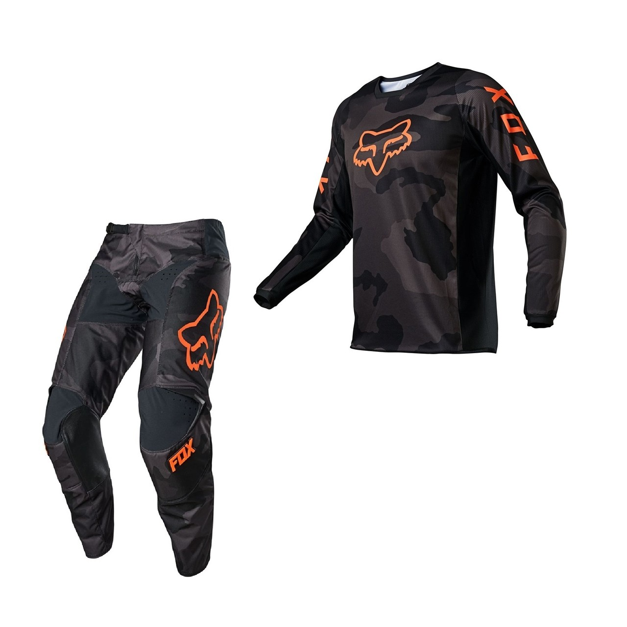Kit Calça + Camisa FOX 180 Trev Black Camo