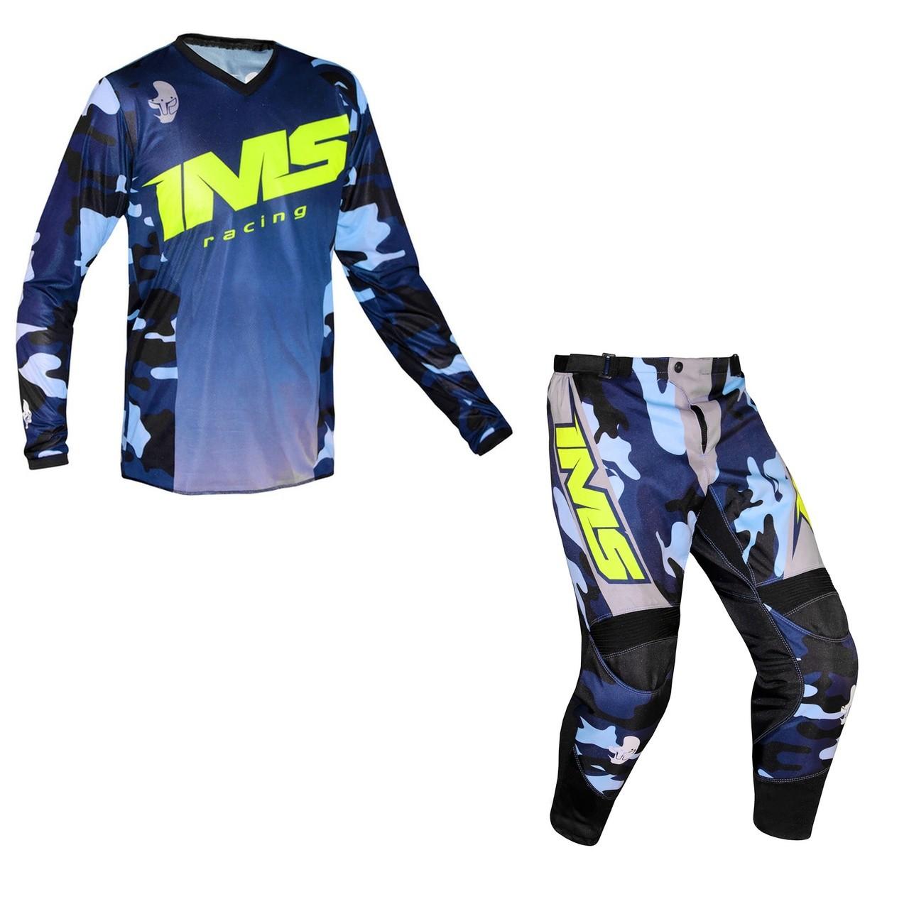 Kit Calça + Camisa IMS Army - Camo Azul