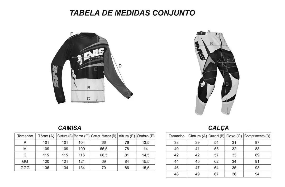 Kit Calça + Camisa IMS MX Preto