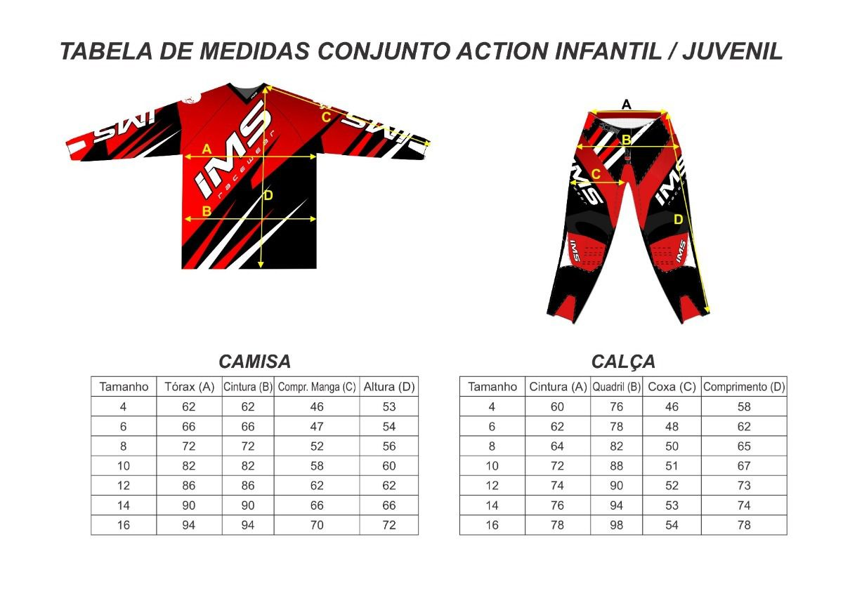 Kit Calça + Camisa Infantil IMS Flex