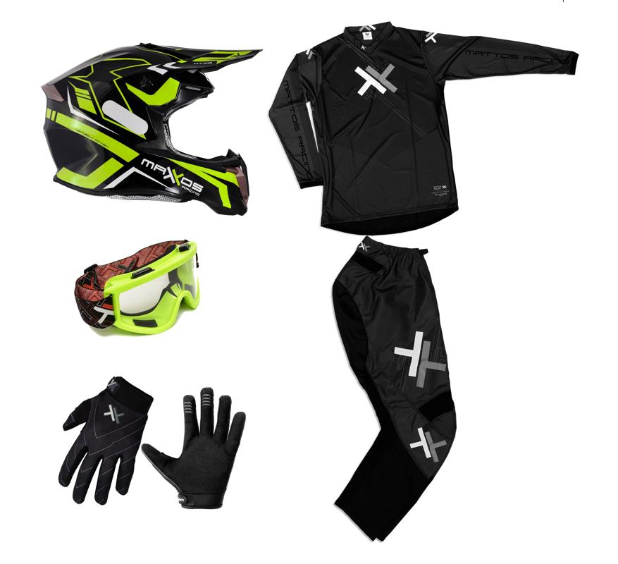 Kit Completo Mattos Racing  Trilha Motocross Fluor