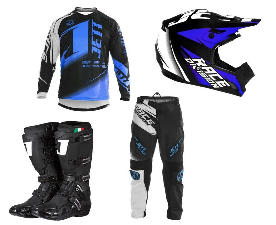 Kit Completo Motocross Jett Factory Edition Neon