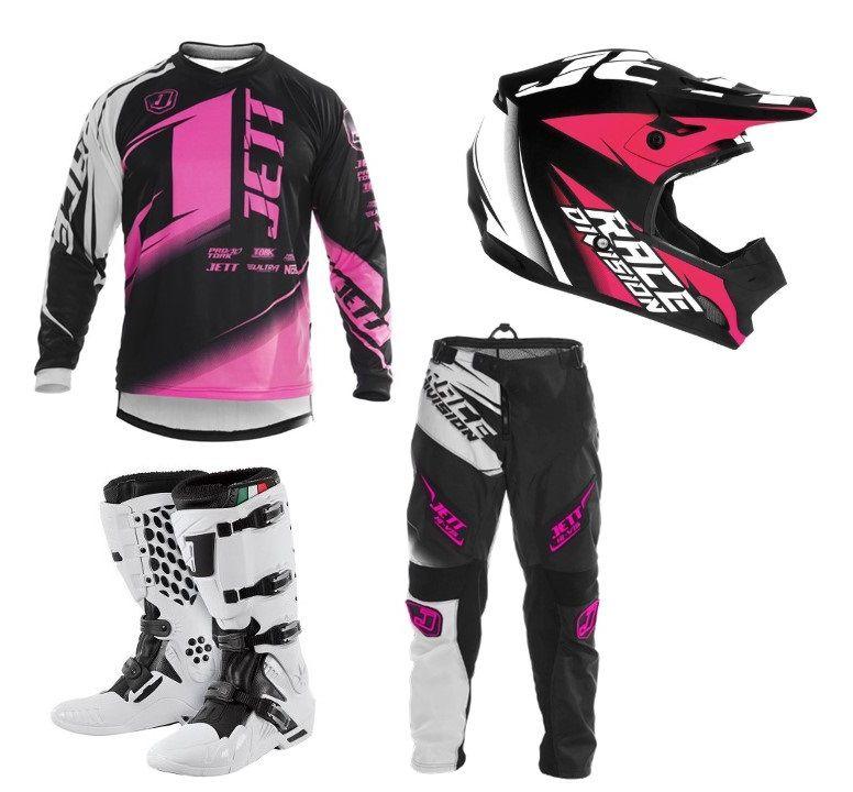 Kit Completo Motocross Jett Factory Edition Neon