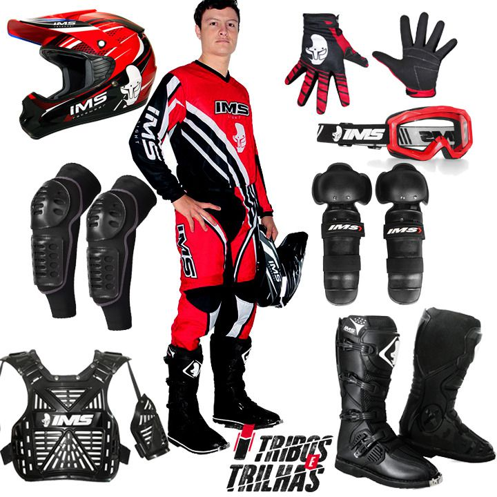 Kit Equipamento IMS 2019 Motocross Trilha