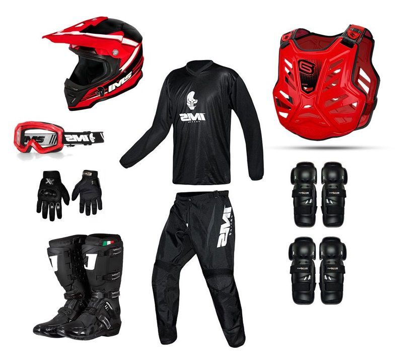 Kit Equipamento Trilha Motocross Basic
