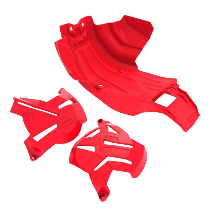 Kit I Protetores CRF 250F Anker - Vermelho