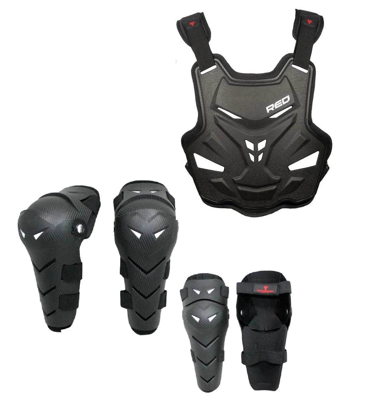 Kit Proteção Motocross Red Dragon Attack