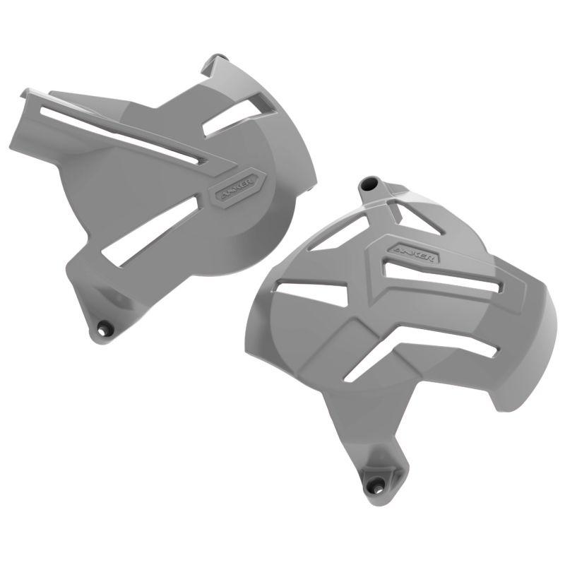 Kit Protetores Anker CRF250F Motor + Tampas + Quadro Cinza