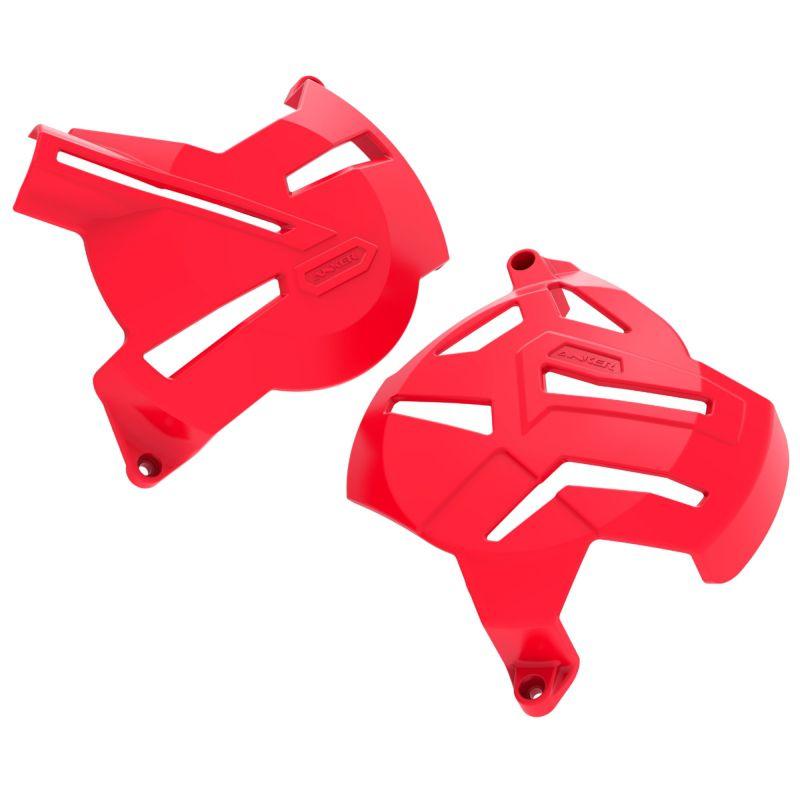 Kit Protetores Anker CRF250F Motor + Tampas + Quadro Vermelho