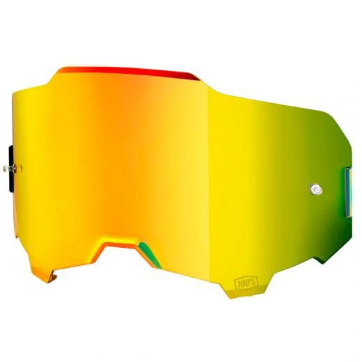 Lente Óculos 100% ARMEGA Espelhada Dourada