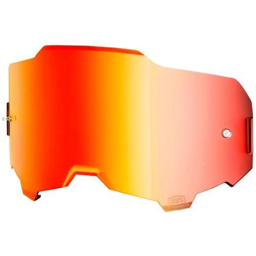Lente Óculos 100% ARMEGA Espelhada Vermelha