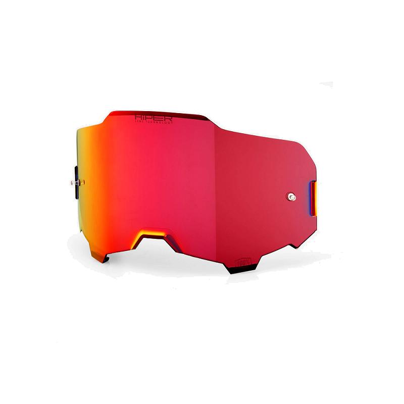 Lente Óculos 100% ARMEGA Hiper Espelhada Vermelha