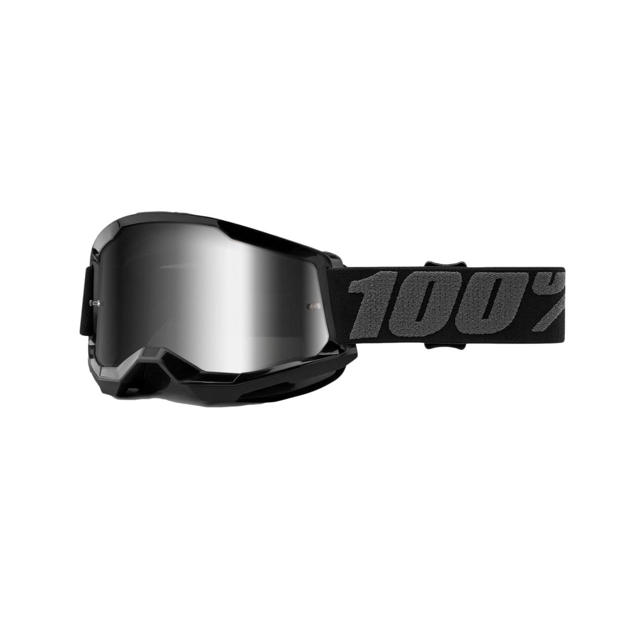 Óculos 100% Strata 2 Black Lente Espelhada