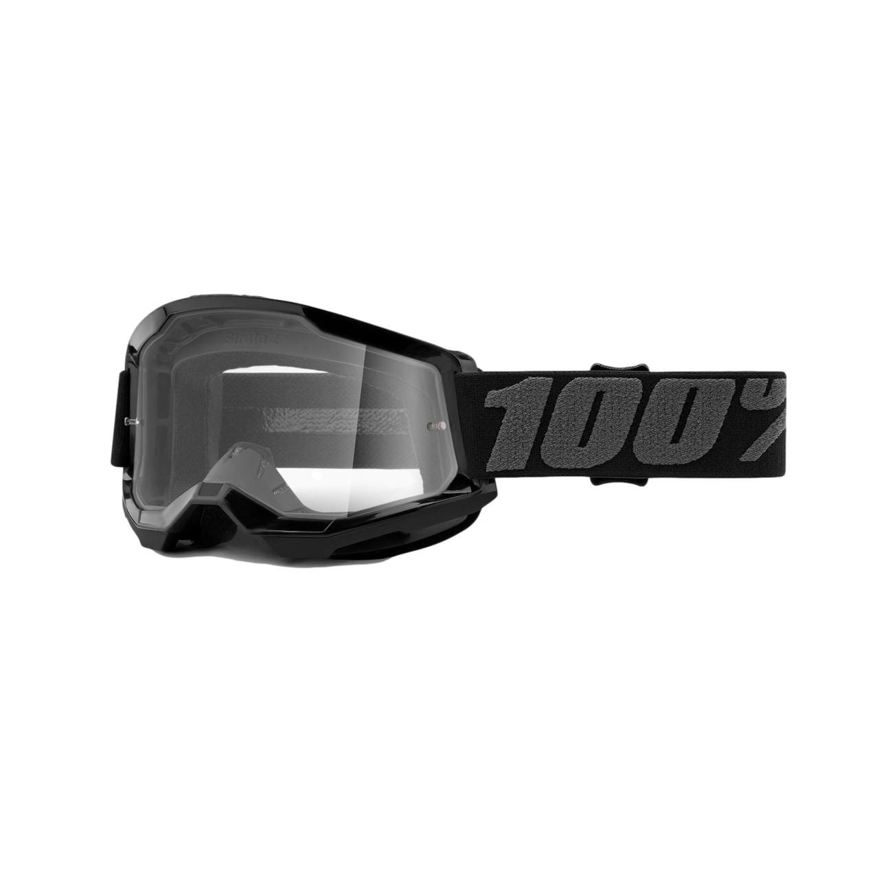 Óculos 100% Strata 2 Black Lente Transparente